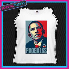 Barack Obama progressi stampata unisex Canotta
