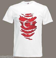 Turkish Flag T-Shirt see Muscles through Ripped T-Shirt Turkey Sizes S - XXXL