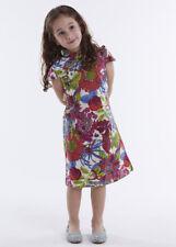 100% Artisanale Qipao Fille Robe Cheongsam Chinoise Mode Enfant en Coton #106