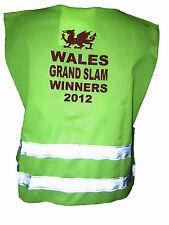 Il Galles GRAND SLAM vincitori 2012 HI VIS CANOTTA Baby & Bambini TG UNICA