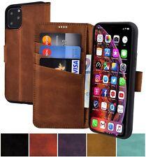 Exclusive Echt Leder Book Tasche Klapp Handy Tasche Bumper für iPhone 11 | Pro