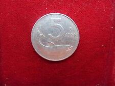 REPUBBLICA ITALIANA 5 LIRE 1956 RARA PERIZIATA  cod. ITALIAREPUBBLICA-4/b