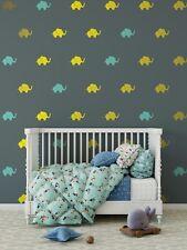 Elephant Wall Decal / Elephant Preppy Pattern Wall Decal s / Nursery Wall Decal