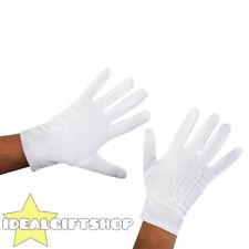Paio di guanti bianchi Adulti Mago MIME Cameriere Costume Guanti Unisex