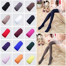Women Ladies Opaque 120D Solid Plain Tights Soft Velvet Pantyhose One Size