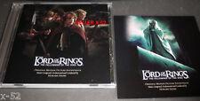 LORD OF THE RINGS soundtrack CD 1 Fellowship SARUMAN christopher lee CARD enya
