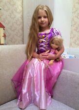 Rapunzel Tangled Girls Long Fancy Dress Princess Birthday Party Costume 1-6 Yrs