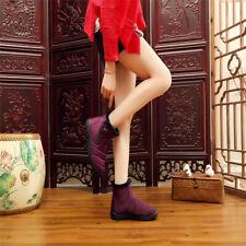 Women Winter Warm Thick Fleece Lined Snow Boot Waterproof Anti-slip Cotton Shoes