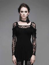 Devil Fashion Sexy Women Rock Black Lace goth Top punk tshirt Blouse Cosplay New