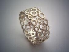 Wunderschöner filigraner Silberring - Ring aus 925er Silber, eismatt gecrashed