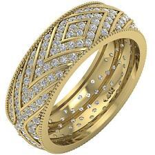 Eternity Anniversary Genuine Diamond Ring SI1/G 1.65Ct 14K Yellow Gold SZ 4-12