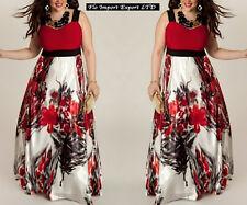 Vestito Lungo Donna Floreale Taglie Grandi Woman Oversize Plus Dress OS120020
