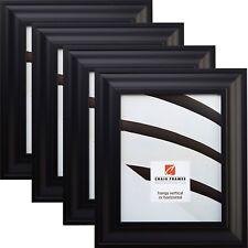 "Craig Frames Contemporary Upscale, 2"" Satin Black Picture Frame, 4-Piece Set"