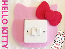 Hello Kitty interruptor de luz de pared calcomanía cubrir bebé niños niños niñas habitación Decoración