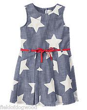 NWT Gymboree Star Spangled Summer Star July 4th Dress 4 7 8 10 12 Girls