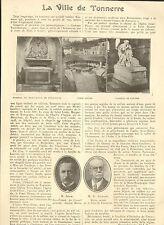 89 LA VILLE DE TONNERRE ARTICLE DE PRESSE PAR DESIRE LEGRAND MAIRE 1928