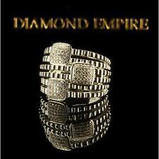 Damenring Zirkonia weiß 750er Weißgold 18 Karat vergoldet silber R2931L