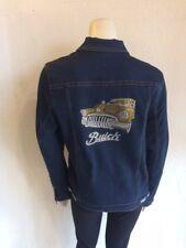 Womens CLASSIC 1950 BUICK ROADMASTER Blinged Denim Jean Jacket NWT Size SM-3X