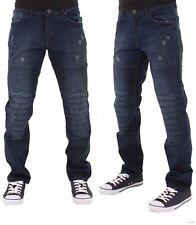 Denim Rey Para Hombres Niños Parche Deshilachado Star Jeans Estilo Motero Hip Hop Club Wear DB G