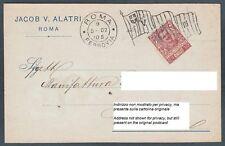 ROMA CITTÀ 44a TESSUTI - TELERIE Cartolina COMMERCIALE viaggiata 1902