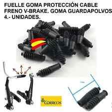 4 UNIDADES FUELLE GOMA PROTECCION CABLE FRENO V-BRAKE- GOMA GUARDAPOLVOS