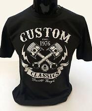 Custom classics t-shirt homme S-2XL motard t-shirt crâne moto rock vélo outlaw