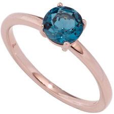 Rotgoldring 1 Blautopas blau London blue 585 Rotgold Goldring Topasring 44857