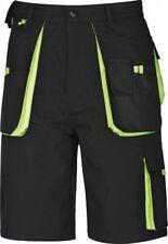 Pantalones cortos Trabajo Negro/Verde Pantalón corto 42-66 seleccionables