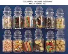 Un verre rempli doux pots choix de douze, doll house miniatures bonbons