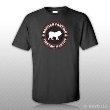 Danger Farting Tibetan Mastiff T-Shirt Tee Shirt Free Sticker dog canine pet