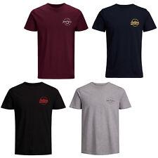 Jack&Jones Originals Camiseta Jorrafsmen Hombre Logo Pecho Informal de Algodón