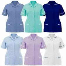 Womens Nurse Uniform Tunic Top Hospital Top Ladies Healthcare Work Tunic Shirt