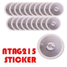 "10/20/50 Pcs NFC Tag 25mm (1"") Round White Sticker NTAG215, TagMo Compatible"