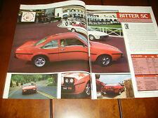 1985 Bitter Sc Sports Car *Original Article / Road Test*