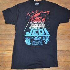 Star Wars The Empire Strikes Back Return of the Jedi Men's T-Shirt RED WHT BLUE