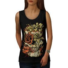 Head Face Rose Goth Skull Women Tank Top NEW | Wellcoda