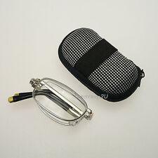 Folding Reading Glasses Silver Frame Anti Eye Fatigue With Rigid Zipper Case