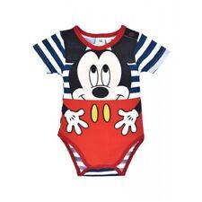 DISNEY BABY body MICKEY 3 6 12 18 ou 23 mois rouge bleu marin rayures  NEUF