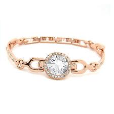 Rose Gold Plated Angelica Crystal  Bracelet Made with SWAROVSKI® Crystals