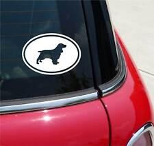 Field Spaniel Spaniels Dog Graphic Decal Sticker Art Car Wall Euro Oval