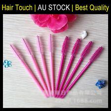 25/50/100/500x Eyelash Brush Applicator Makeup Disposable Mascara Wands Pink Set