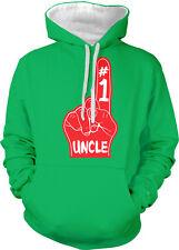 #1 Uncle Number One Red Foam Finger Best Greatest My Two Tone Hoodie Sweatshirt