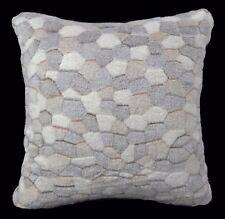 Fa42a Lt.Brown Cream Grey Stone/Giraffe Print Fleece Cushion/Pillow Cover Cumtom