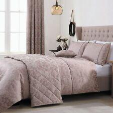 """Vantona Como Damask Jacquard Lined Curtains 66x72"""" Double Duvet  Latte Berry"""