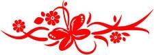 Butterfly & Flower Vinyl Sticker,car,camper,van (#3)