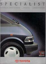 Toyota Corolla 4WD Estate Previa Land Cruiser II VX 1990-91 UK Market Brochure