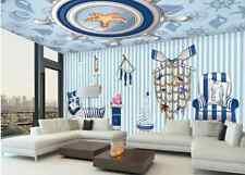 3D Sofa Ship Graffiti Paper Wall Print Wall Decal Wall Deco Indoor Murals