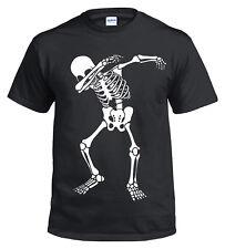 Halloween Skeleton Dab T-Shirt/Skull/Scary/Gift/Kids/Fancy Dress/Horror/Xmas/Top