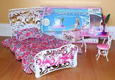 FANCY Life DOLL HOUSE FURNITURE SWEET DREAM BEDROOM W/Bedsheet PLAY SET