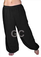 Black Cotton Harem Yoga Pants Belly Dance Trousers Aladdin Students Pantalons